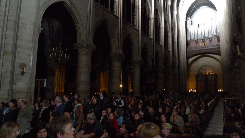 Notre Dame De Paris - Nuit Blanche 2010 for artist Thierry Dreyfus Installation