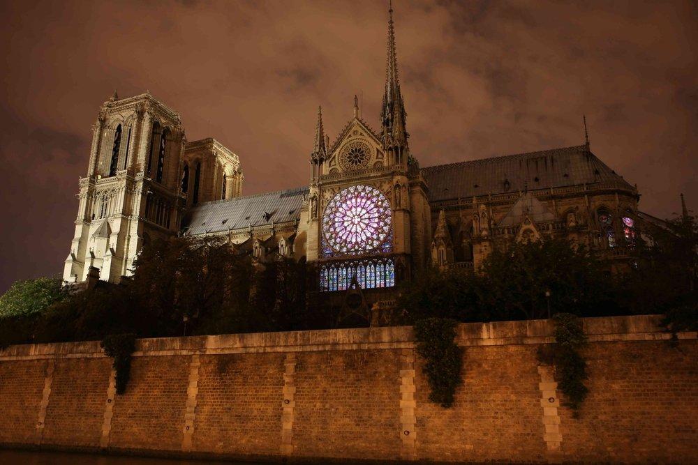 Notre Dame De Paris - Nuit Blanche 2010 with artist Thierry Dreyfus