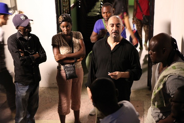 "In Kinshasa (DRC) on the set of the feature film ""John Of God"" - 2013"