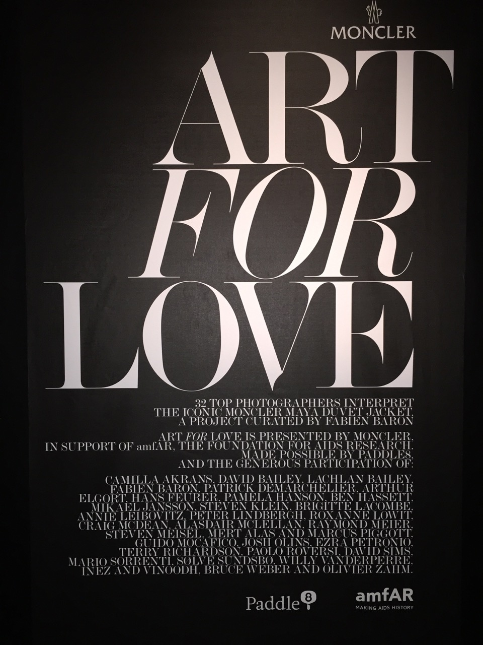 Moncler - Art for Love with amfAR at the New York Public Library