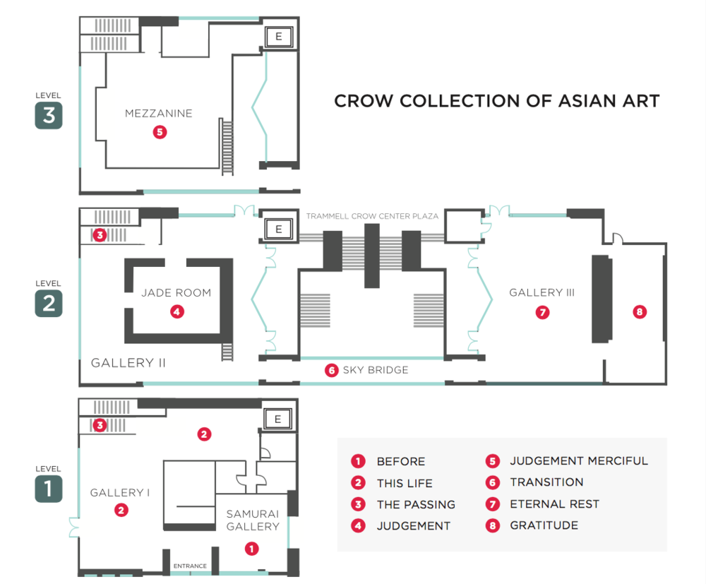 "Map of Henri Scars Struck's Installation ""We Know You've Got Soul"" - Crow Collection of Asian Art Museum for the Soluna Music Festival"