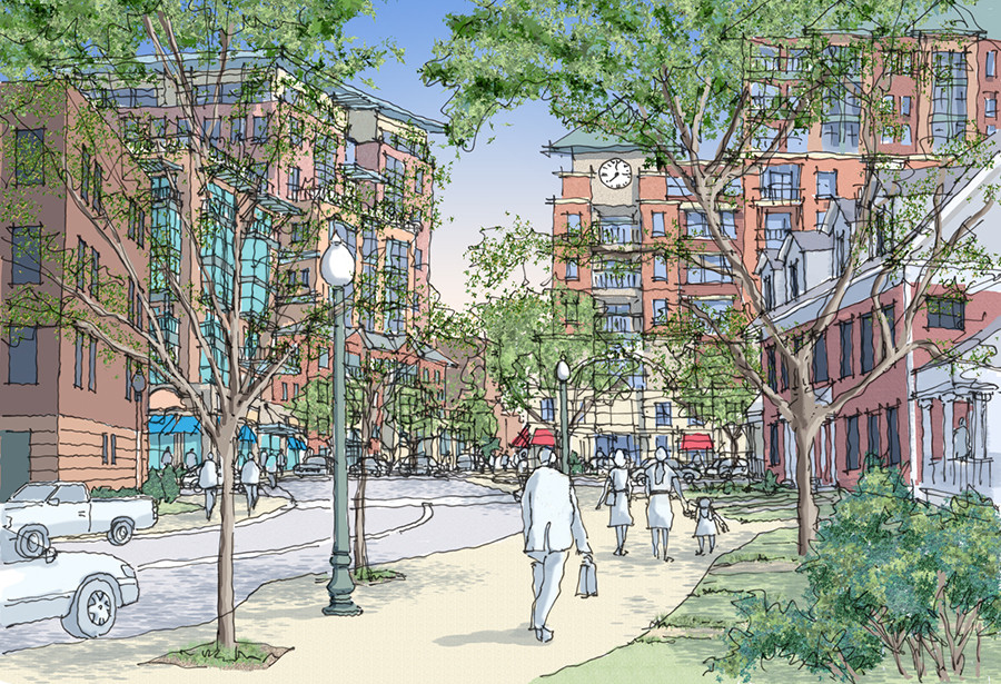 Artist rendering of the St. Paul's Redevelopment Project