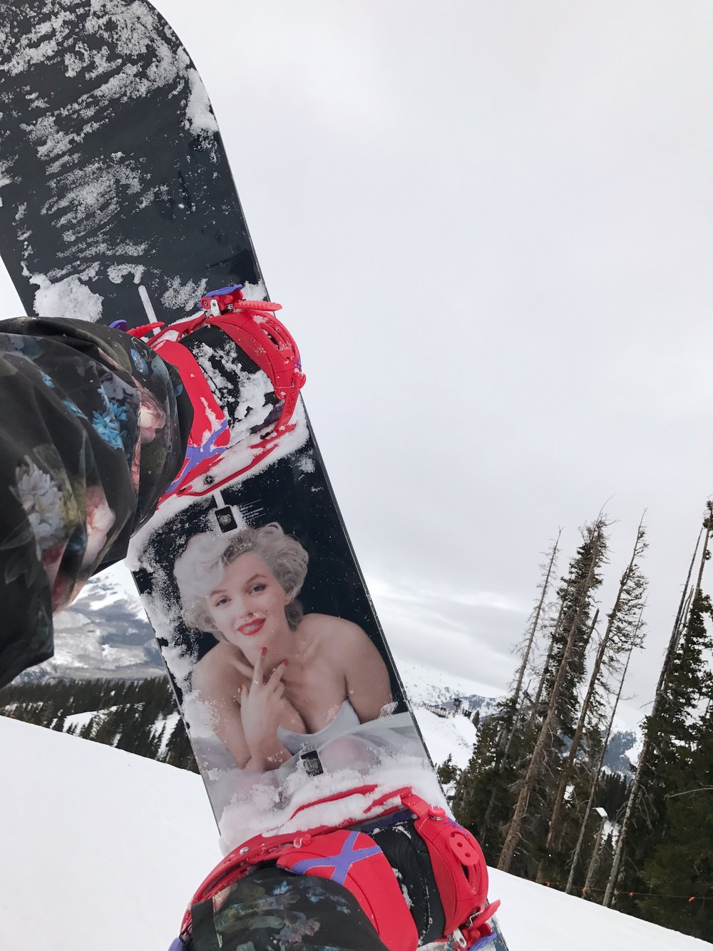 Marilyn Monroe snowboard