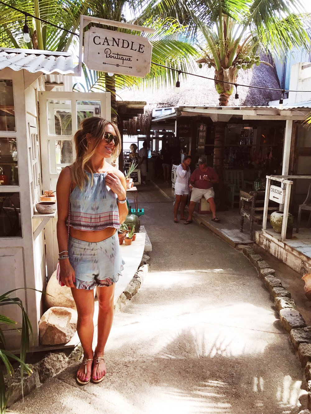 Sandy streets in Tulum Mexico