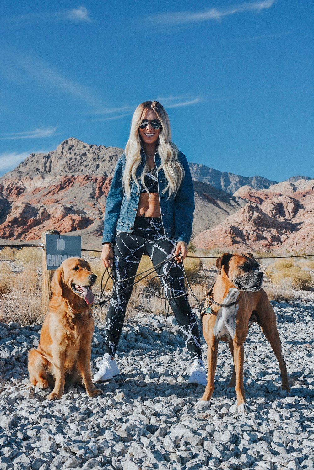 Kelley Ann Fertitta and her two dogs