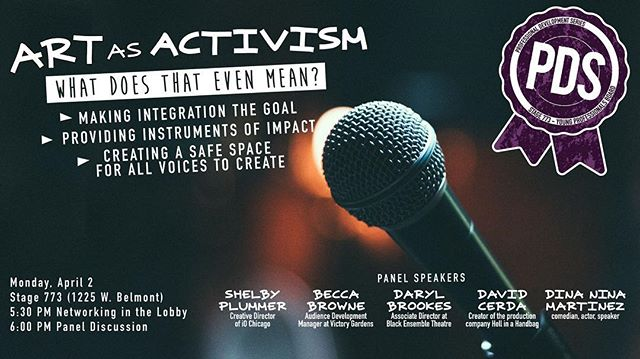 TONIGHT🙌  #ypb #artasactivism  FREE admission Bring your questions, ideas, and friends💕 - - - - - - - - #chicagocomedy #chicagotheatre #activism #diversity #safespace #theatre #comedy #improv #chicagoartist #art #panel #change #supportthearts #supportlocalart #inclusion