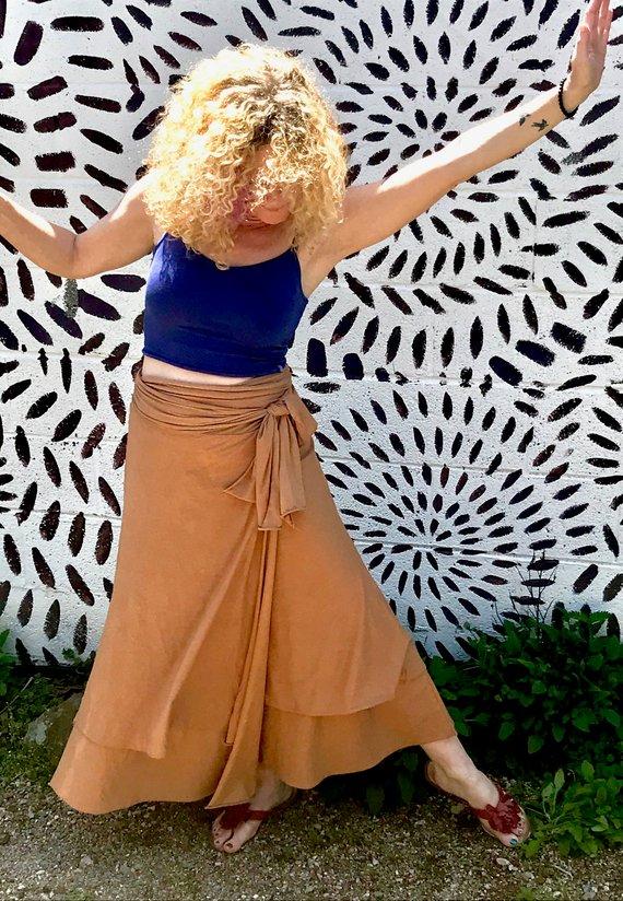 Saraswati Organic Wrap Skirt
