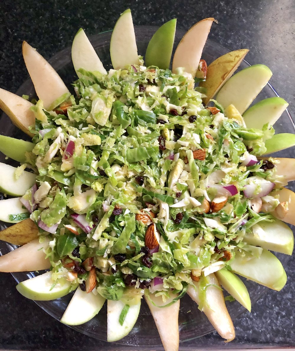 Sunshine Brussels Sprouts Salad