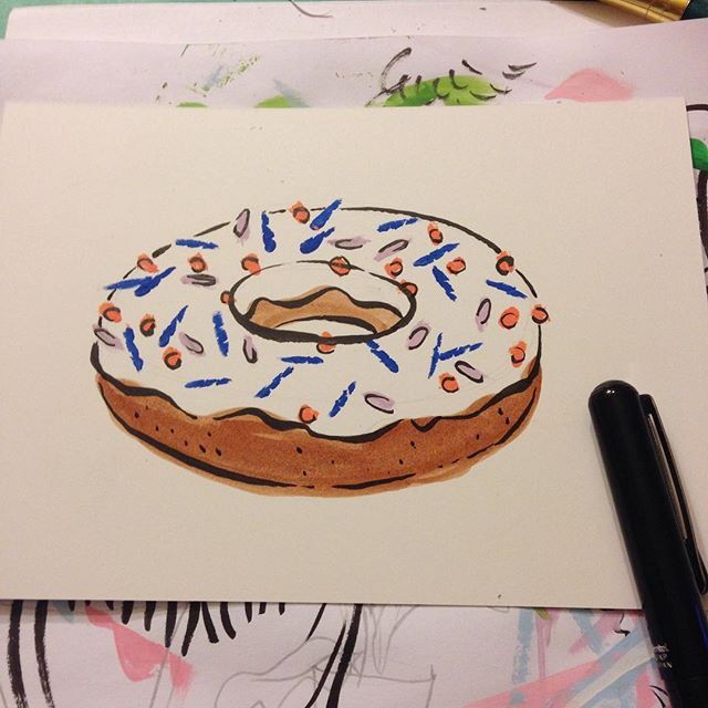 Late night #doughnut