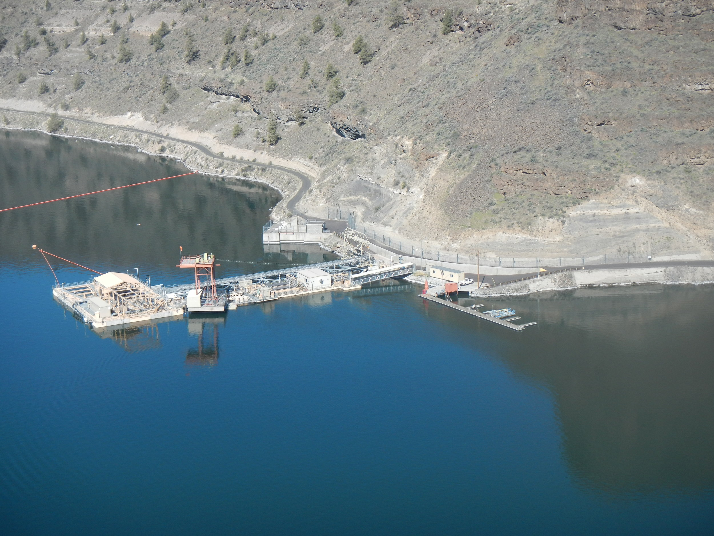 Selective Water Withdrawal Facility in Lake Billy Chinook Photo by Greg McMillan