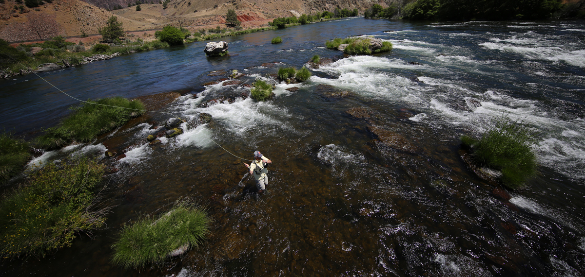 Fishing the lower Deschutes River. Photo by Brian O'Keefe.