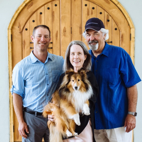From left: Jesse, Wendy, and Don Lange