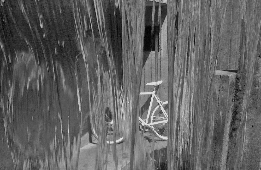 Ghost bike at Keller Fountain Park - Nathaniel Barber Blog