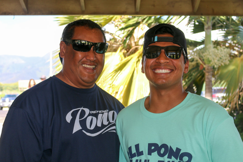 All PONO Founder & President, Jon Viela, with All PONO Athlete, Haloa Dudoit