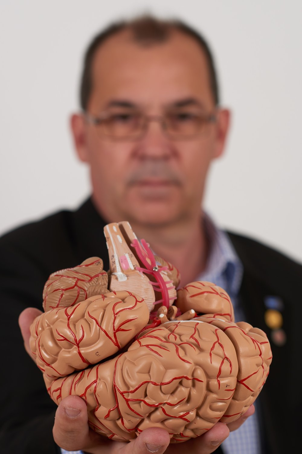 Tim with his area of study.. the human brain.