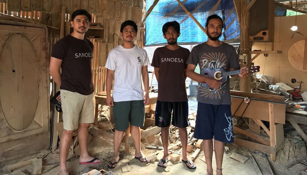 Sanoesa | From left: Andrew, Nathaniel, Ridwan aka Iwan and Bimo
