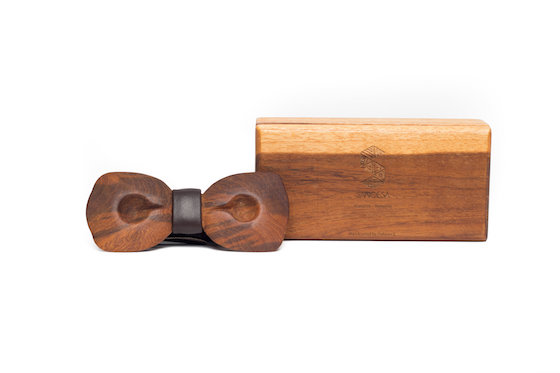 Koepoe Wooden Bowtie available in Teak and Rosewood