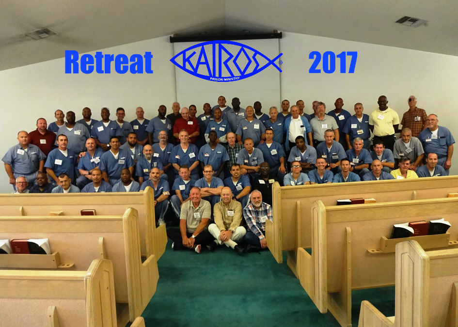 Father Tom, lower left, served on the Kairos prison ministry team last month.