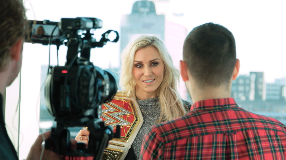 Starstruck gets up close and personal with the female WWE 'Superstars' like Charlotte Flair