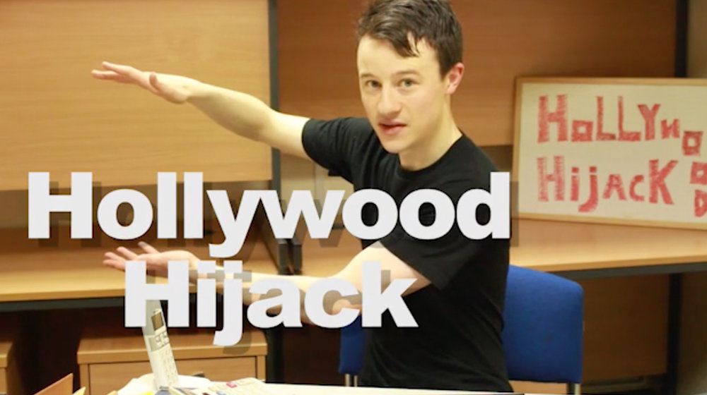 Seán Burke returns as comic host of 'Hollywood Hijack', where he must prove to the stars of Tinseltown that he can be A-List too