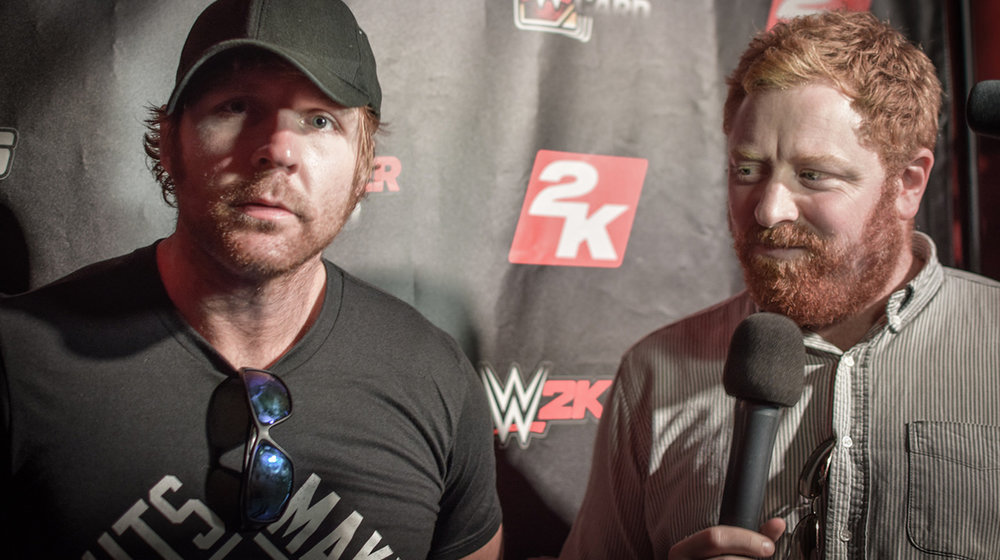 James Delow is regularly joined by WWE Superstars, like Dean Ambrose