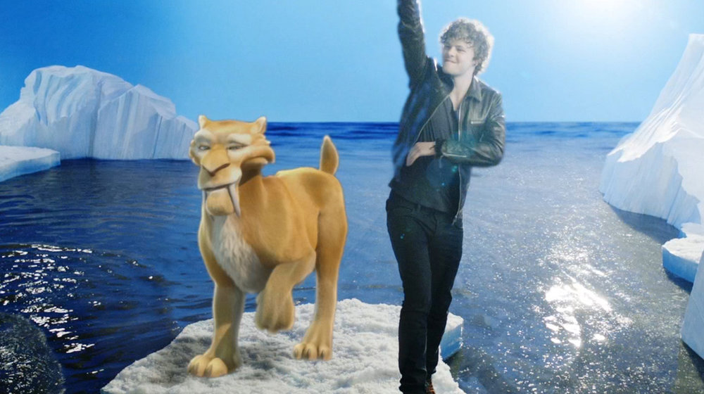 The stars of Ice Age 4 meet The Wanted in virtual reality on set of the band's new music video