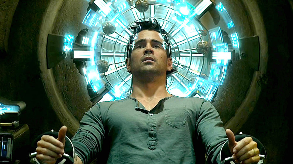 Colin Farrell as Douglas Quaid in Total Recall. But, is it a remake? Apparently not.