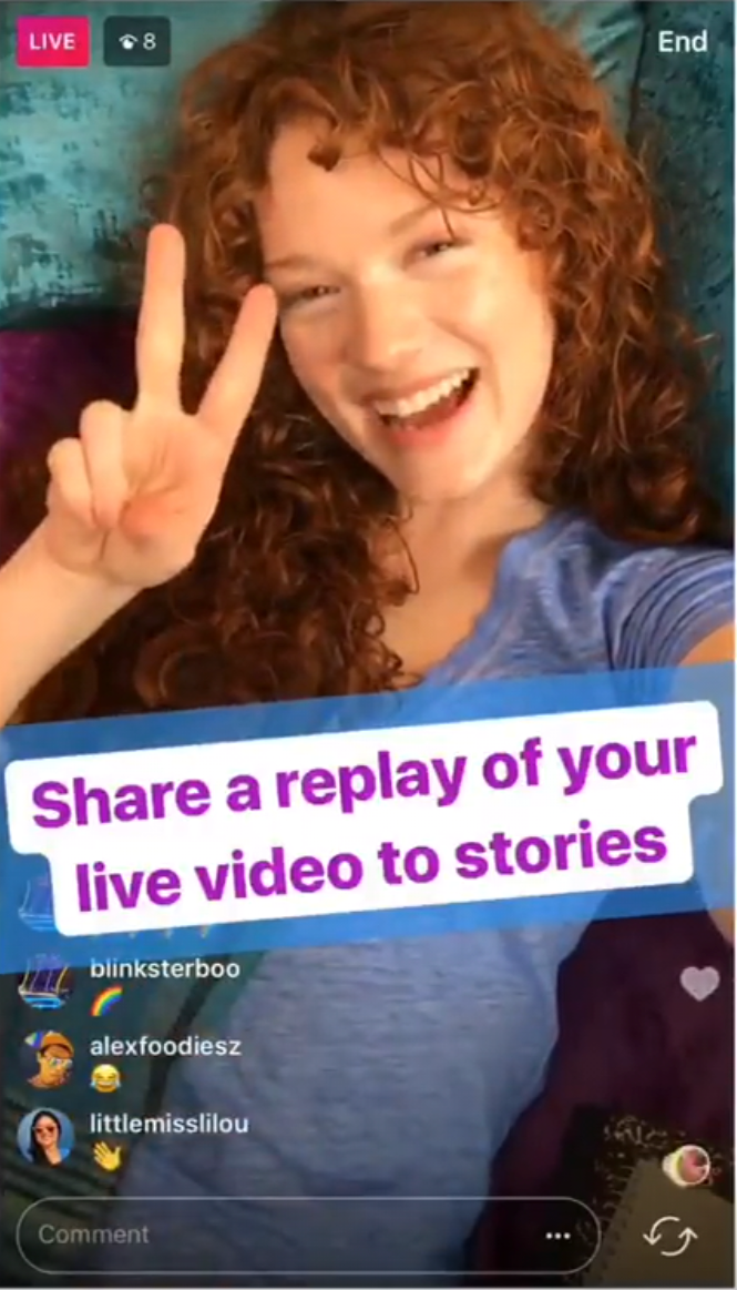 Live video was a recent addition to the Instagram Stories product