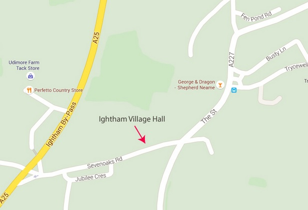Ightham Village Hall Map