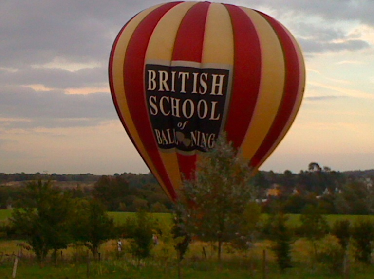 In 2012 hot air balloon landed in AONB fields surrouding Ightham Court