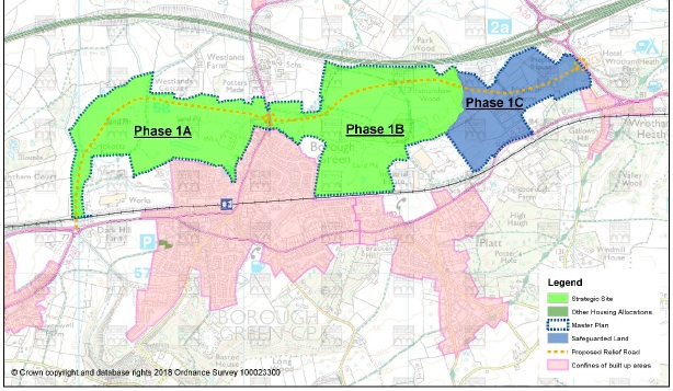 "Borough Green ""Master Plan"" - Twice the size of King's Hill - Conceding Metropolitan Green Belt and AONB"
