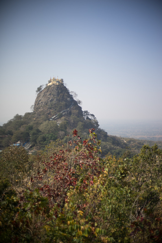 February 2016, Popa Taung Kalat Temple, Mount Popa, Myanmar (formerly Burma) (ပြည်ထောင်စုသမ္မတ မြန်မာနိုင်ငံတော်).