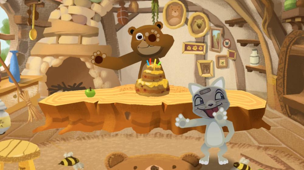 생일을 맞은 곰과 내 스푼 친구가 함께 신나게 춤을 추기 시작한답니다!