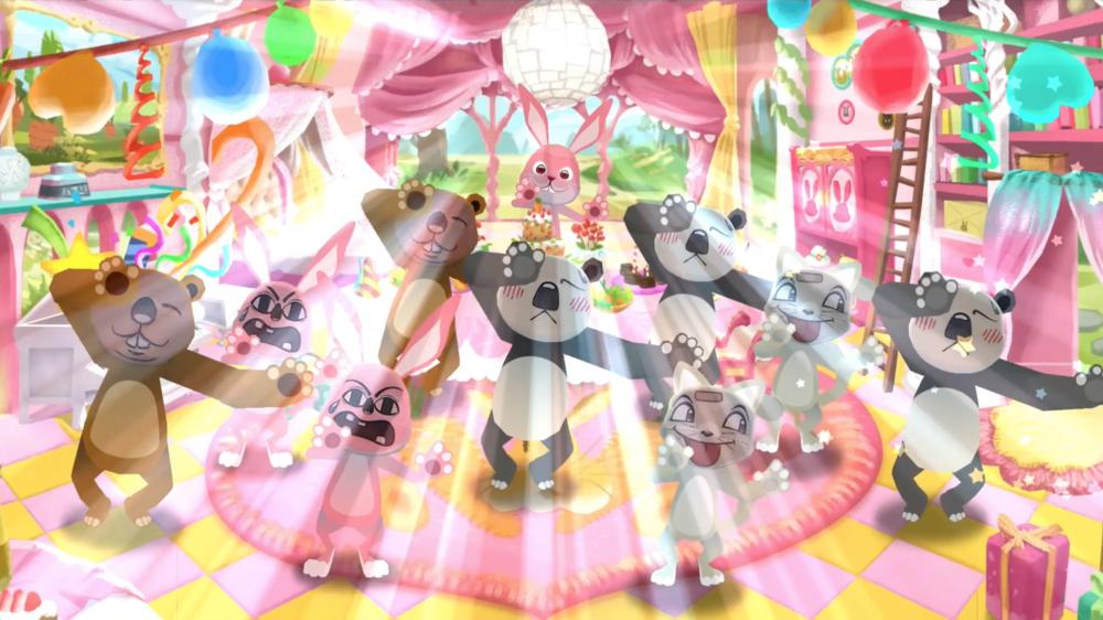 모두 다 함께 신나는 댄스 파티를 즐길 수 있습니다.