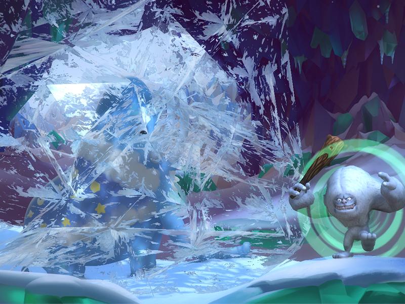 못된 예티의 마법으로 맘모스가 얼음에 갇혀버렸어요!