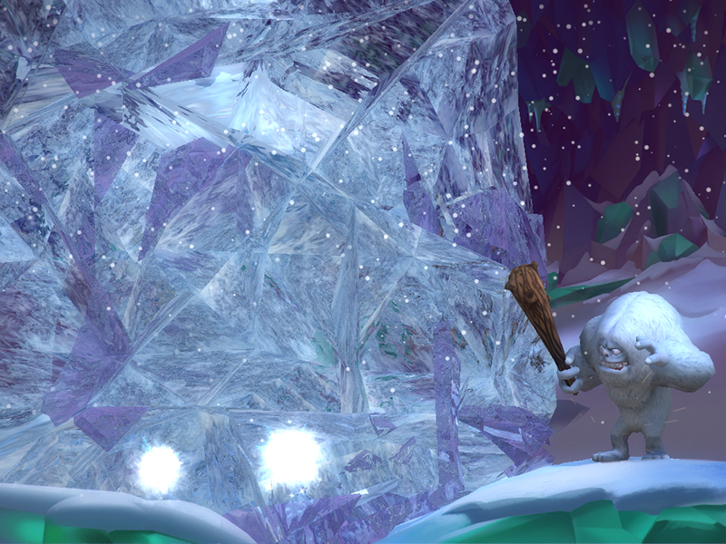 빠르고 힘차게공을 던져, 얼음을 깨줘야 해요!