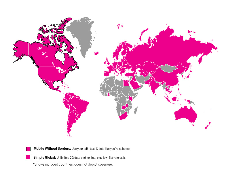 Why TMobile Is The Best Cell Phone Company For Frequent Travelers - Map of cell phone coverage in us