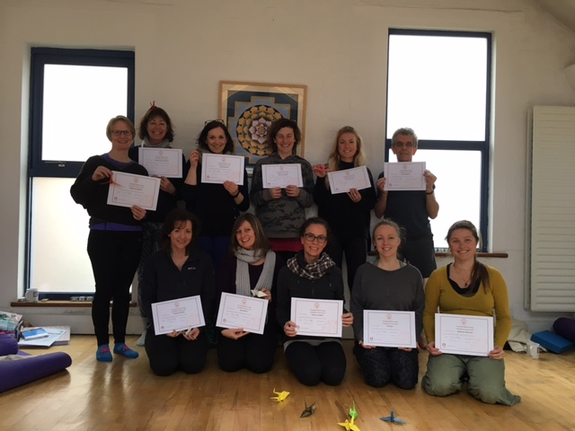 Foundation Level Yogi's with their qualifications for the BWY Foundation Course