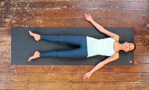 Full relaxation yoga pose