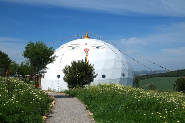 AUM Dome at the Yoga Retreat in Spain