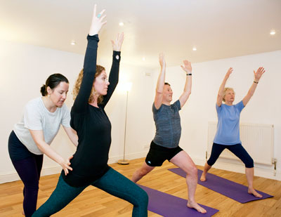 Small group yoga class