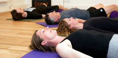 Yoga for relaxation and stress relief workshop at the Bristol Yoga Centre