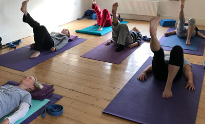 Yoga for Backs and wellbeing class & Yoga for Healthy Backs course at the Bristol Yoga Centre for all levels including beginners
