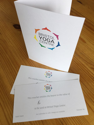 Bristol Yoga Centre Gift Voucher now available to buy