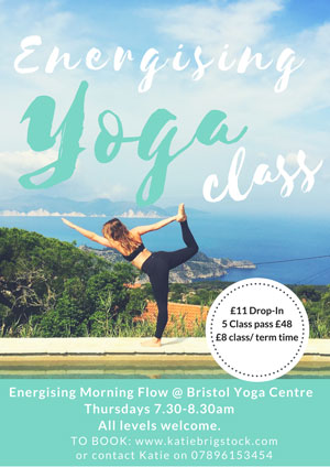 Energising morning yoga class at the Bristol Yoga Centre