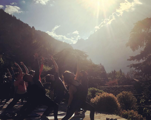 Yoga retreat in Chamonix 2018