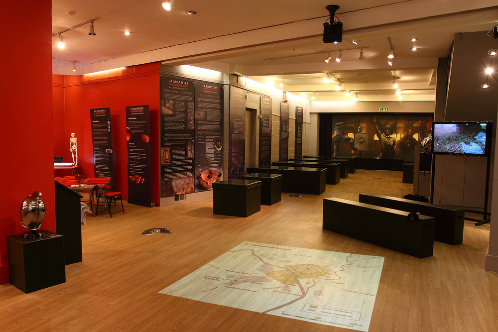Image shows Gladiators Exhibition in York
