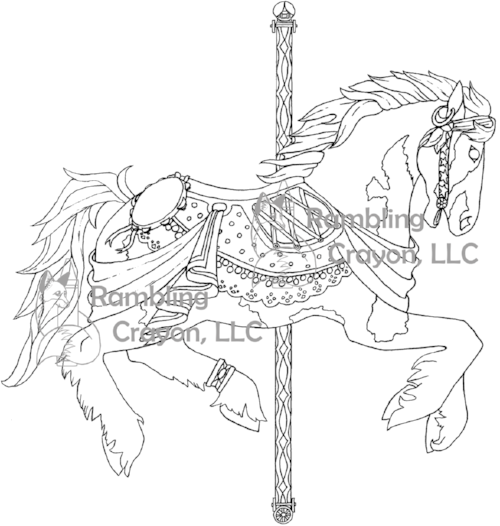 Carousel Horses Is Available For Purchase Here On CreateSpace Or Amazon Free Coloring Pages Of The Ribbon Horse Face Card And Cowboy