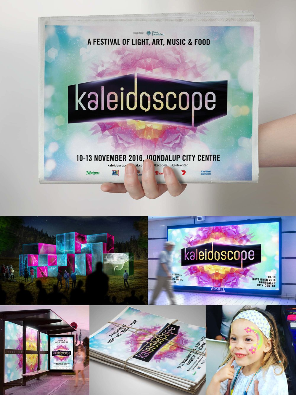Kaleidescope Festival – Branding and Collateral