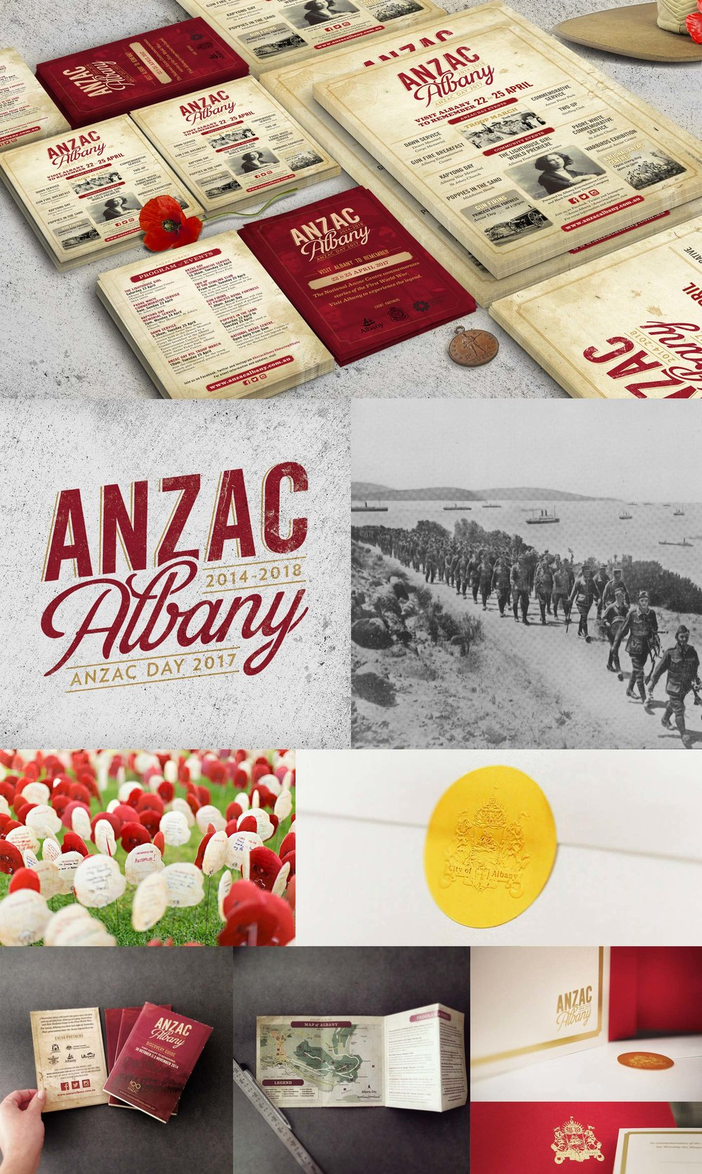 Anzac Albany – Branding & Design Collateral